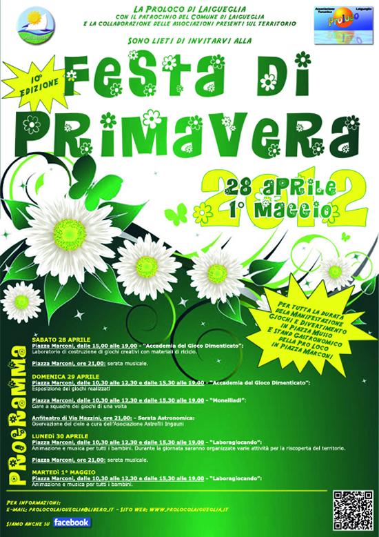[GRAFICA: Locandina] – Festa di Primavera 2015, Laigueglia