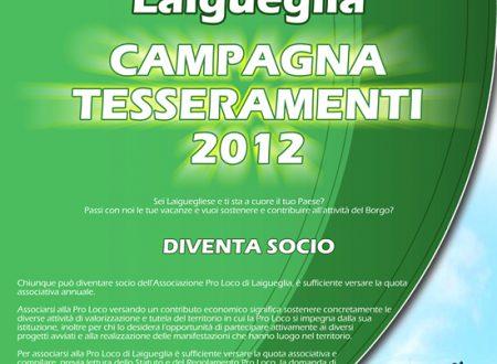 [GRAFICA: Locandina] – Campagna Tesseramenti 2012 Pro Loco Laigueglia