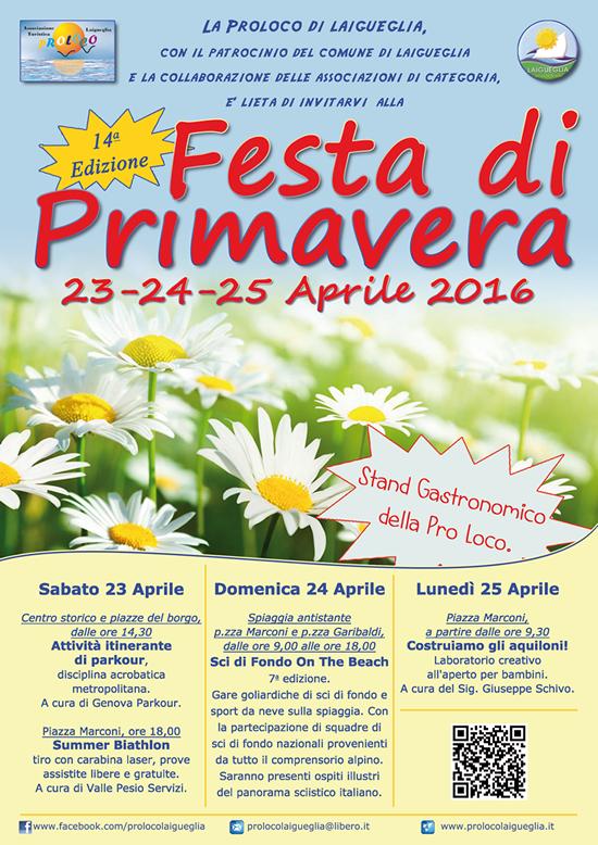 [GRAFICA: Locandina] – Festa di primavera 2016, Laigueglia